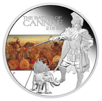 The Battle of Cannae 216 BC 1 Oz  Ag Proof Tuvalu 2009 - 1