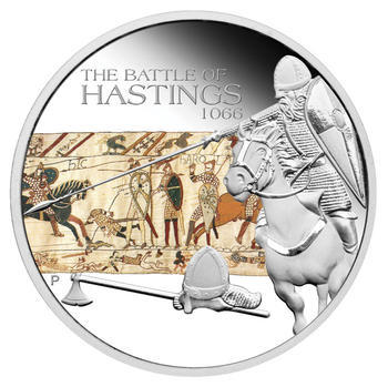 The Battle of Hastings 1066 1 Oz  Ag Proof Tuvalu 2009 - 1