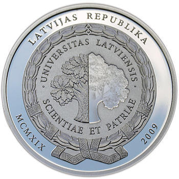 University of Latvia 2009 Silver Proof - 1