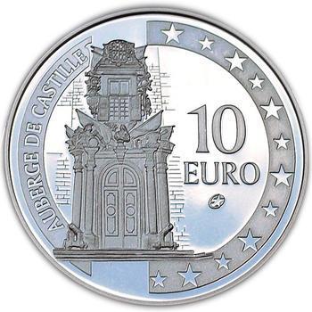 Auberge de Castillia Silver Proof 10 Eur Malta 2008 - 1