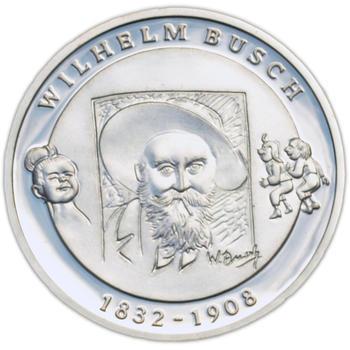 2007 Wilhelm Busch Silver Proof 10 Eur - 1