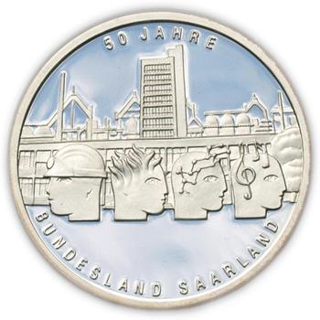 2007 Saarland Silver Proof 10 Eur - 1