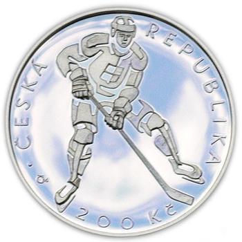 Mince ČNB - 2008 Proof -100. výročí Založení českého hokejového svazu - 1