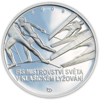 Mince ČNB - 2009 Proof - 200 Kč Mistrovství světa v Klasickém lyžování - 1