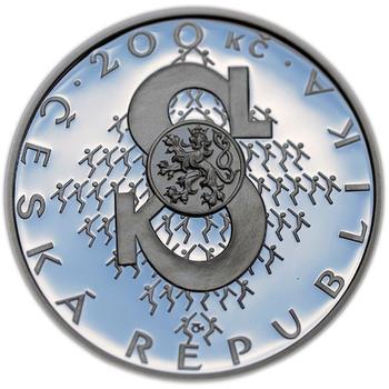 Mince ČNB - 2012 b.k. - 200 Kč  Založení Sokola - 1