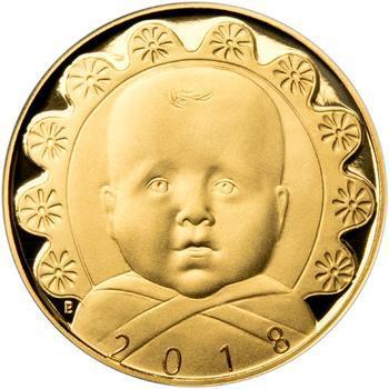 2018 - Dukát k narození dítěte - Miminko v peřince, 2018 - Dukát k narození dítěte - Miminko v peřince - 1