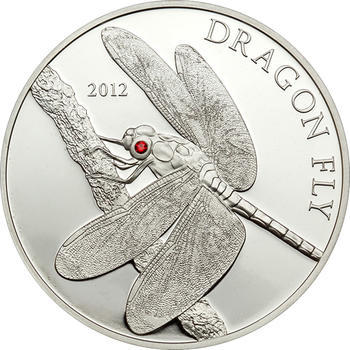 2012 Dragon Fly - Tokelau (Swarovski) Ag - 1