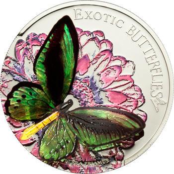 2012 Exotic Butterflies - Ornithoptera Priamus - Tokelau Ag 3D - 1
