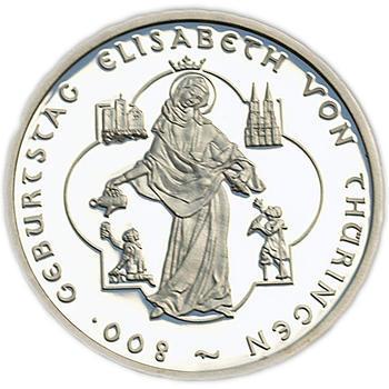 2007 Elisabeth von Thüringen Silver Proof 10 Eur - 1