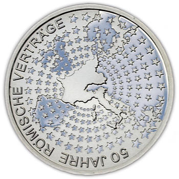 2007 Roman Treaty Silver Proof 10 Eur - 1