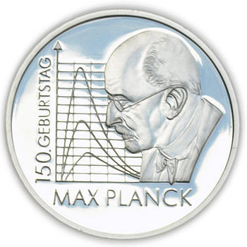 2008 Max Planck 150th Birthday Silver Proof 10 Eur - 1
