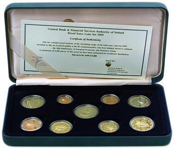 Oběhové mince Irsko 2009 Proof