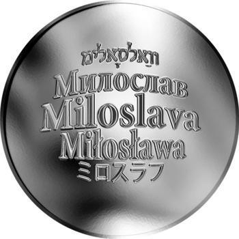 Česká jména - Miloslava - stříbrná medaile - 1