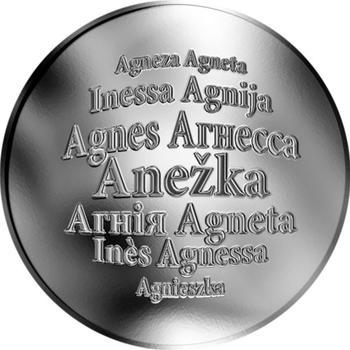 Česká jména - Anežka - stříbrná medaile - 1