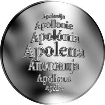 Česká jména - Apolena - stříbrná medaile - 1