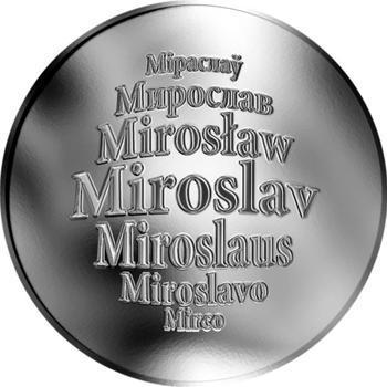 Česká jména - Miroslav - stříbrná medaile - 1
