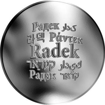 Česká jména - Radek - stříbrná medaile - 1