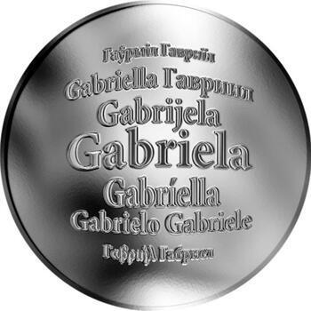 Česká jména - Gabriela - stříbrná medaile - 1