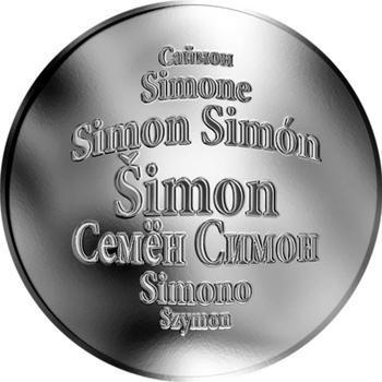 Česká jména - Šimon - stříbrná medaile - 1