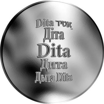 Česká jména - Dita - stříbrná medaile - 1