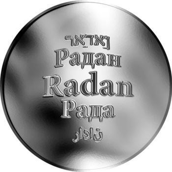 Česká jména - Radan - stříbrná medaile - 1