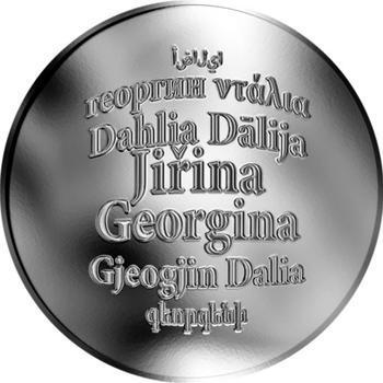 Česká jména - Jiřina - stříbrná medaile - 1
