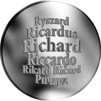 Česká jména - Richard - stříbrná medaile - 1