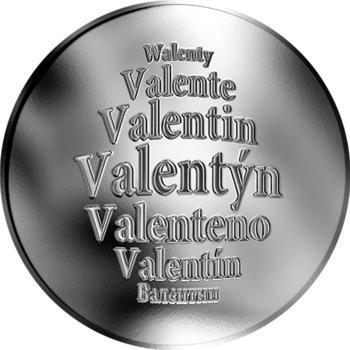 Česká jména - Valentýn - stříbrná medaile - 1