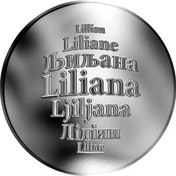Česká jména - Liliana - stříbrná medaile - 1