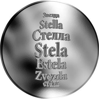 Česká jména - Stela - stříbrná medaile - 1