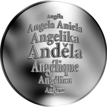 Česká jména - Anděla - stříbrná medaile - 1