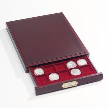 Elegantní mincovní kazeta z mahagonového dřeva HMB 48 - 1