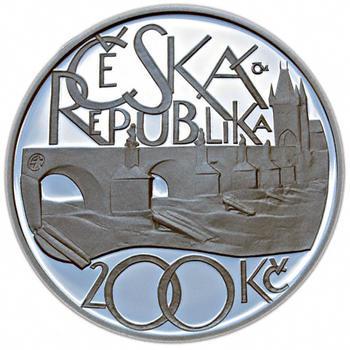 Mince ČNB - 2007 - Proof - 650. výročí  položení základního kamene Karlova mostu - 1