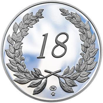 Medaile k životnímu výročí stříbro - 2