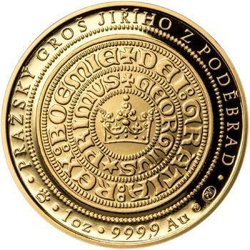 550 let od korunovace Jiřího z Poděbrad českým králem - zlatá Oz - PROOF - 2