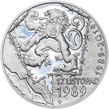 17. LISTOPAD 1989 – návrhy mince 200 Kč - sada tří Ag medailí 34 mm Proof v etui - 2