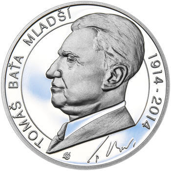 TOMÁŠ BAŤA ml. – návrhy mince 200,-Kč - sada tří Ag medailí 34mm Proof v etui - 2