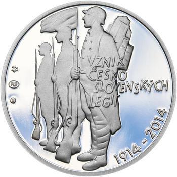 ZAL. ČESKOSLOVENSKÝCH LEGIÍ – návrhy mince 200,-Kč - sada tří Ag medailí 34mm Proof v etui - 2
