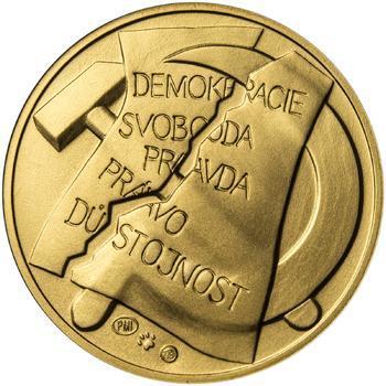25. únor 1948 - 66. výročí od komunistického puče - 1 Oz zlato b.k. - 2