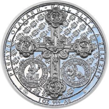 750 let od založení Menšího Města pražského Přemyslem Otakarem II. - stříbro Proof - 2
