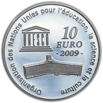 UNESCO Moskevský Kreml 10 Eur Francie 2009 Ag Proof - 2