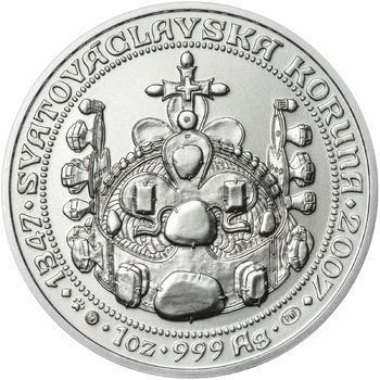660 let od Korunovace Karla IV. českým králem - stříbro b.k. - 2