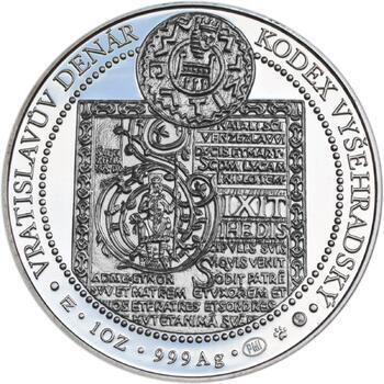 Korunovace Vratislava II. českým králem - stříbro Proof - 2