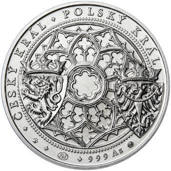 Korunovace Václava II. českým králem  - stříbro b.k. - 2