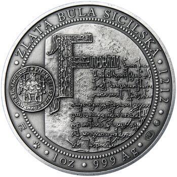 810 let od korunovace Přemysla Otakara I. českým králem - stříbro patina - 2