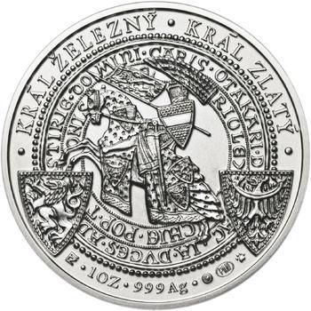 Korunovace Přemysla Otakara II. českým králem -  stříbro b.k. - 2