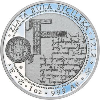 810 let od korunovace Přemysla Otakara I. českým králem - stříbro Proof - 2
