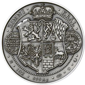 Korunovace Fridricha Falckého českým králem - stříbro patina - 2