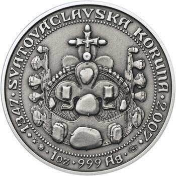 660 let od Korunovace Karla IV. českým králem - stříbro patina - 2