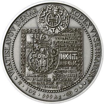 Korunovace Vratislava II. českým králem - stříbro patina - 2